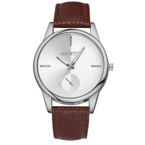 GAIETY G122 Fashion Watches For Women Classic Casual Leather - BROWN