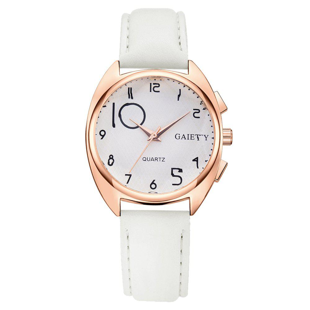 GAIETY G451 Women Fashion Leather Wacth - WHITE