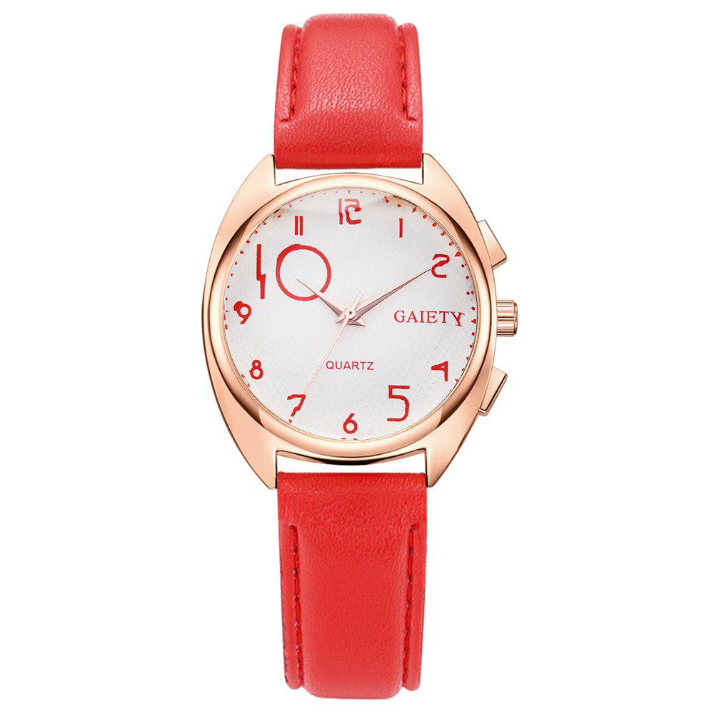 GAIETY G451 Women Fashion Leather Wacth - RED