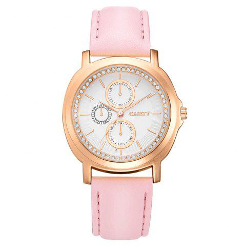 GAIETY G452 Ladies Leather Watches - PINK