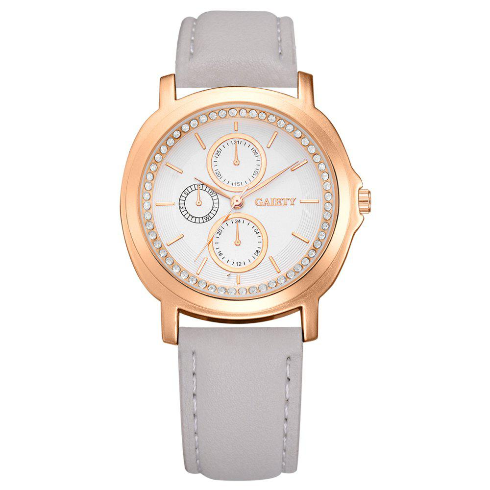 GAIETY G452 Ladies Leather Watches - GRAY