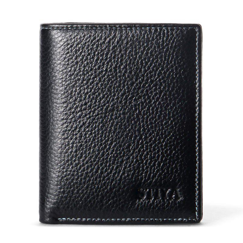 STIYA Men's Slim Wallet Cowhide Leather Classic Bifold Wallets 247 classic leather