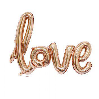 YEDUO  Ligatures LOVE Letter Foil Balloon Anniversary Wedding Valentines Party Decoration Champagne Cup Photo Booth Prop - ROSE GOLD ROSE GOLD