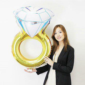 YEDUO Lover Wedding Marriage Balloon Diamond Balloon Bride Ring Engagement Foil Valentine Balloons Party Toys - COLORMIX COLORMIX