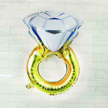 YEDUO Lover Wedding Marriage Balloon Diamond Balloon Bride Ring Engagement Foil Valentine Balloons Party Toys - COLORMIX