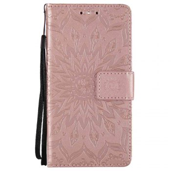 Embossed Sun Flower PU TPU Phone Case for Nokia 9 - ROSE GOLD