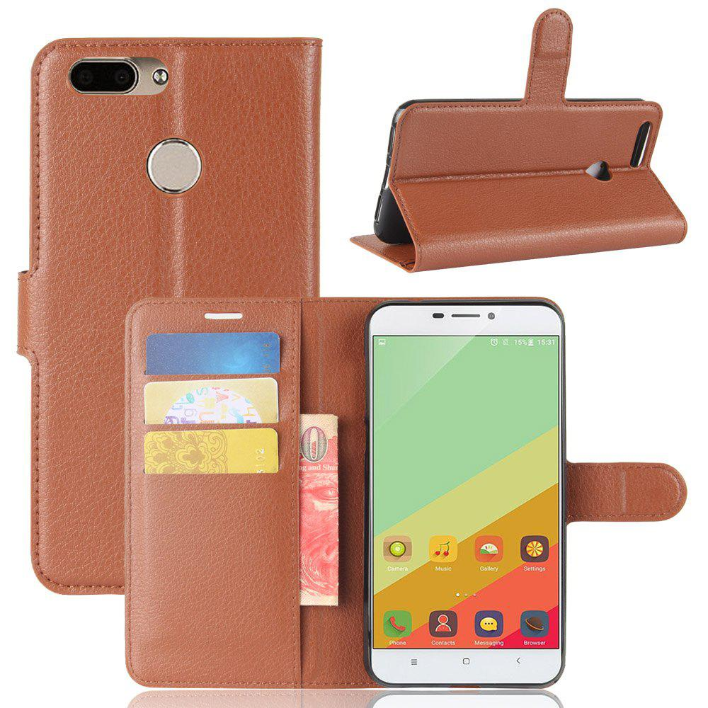 PU Leather Full Body Case for Oukitel U20 Plus - BROWN