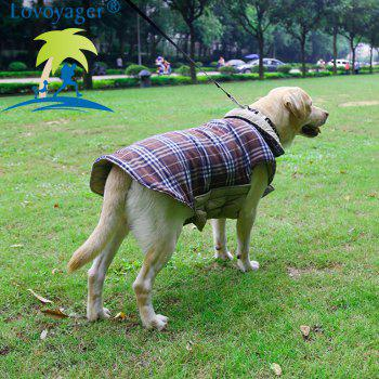 Lovoyager PD10005 Two Sides of Pet Clothing Can Be Used in The Dogs Autumn and Winter Jacket - BROWN L
