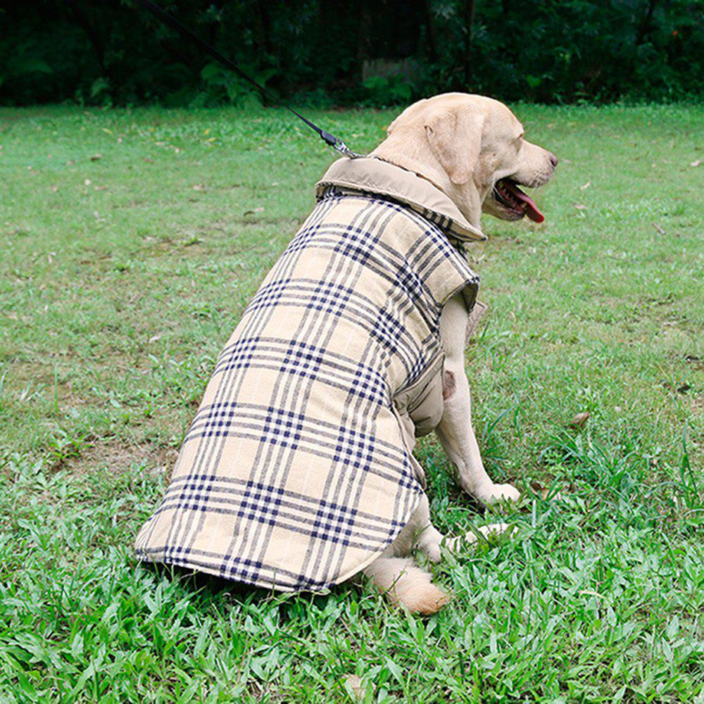 Lovoyager PD10005 Two Sides of Pet Clothing Can Be Used in The Dogs Autumn and Winter Jacket - BEIGE L