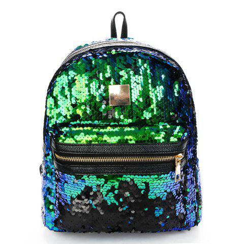 New Sequined Fashion Backpack - GREEN