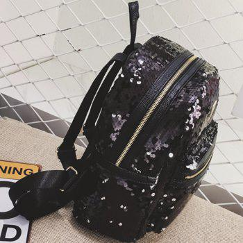 New Sequined Fashion Backpack - BLACK