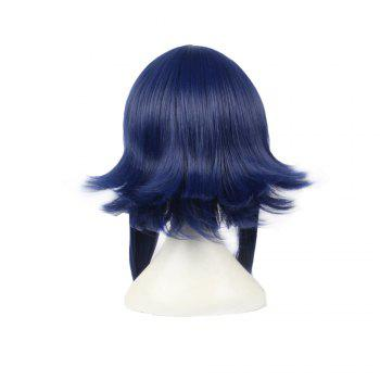 Anime Blue Color Long Straight Women Cosplay Synthetic Hair Party Wig -  DARK BLUE