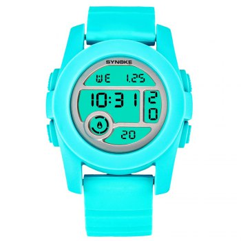 SYNOKE 67286 Silicone Night Light Swimming Waterproof Student Couple Watch - WINDSOR BLUE FEMALE