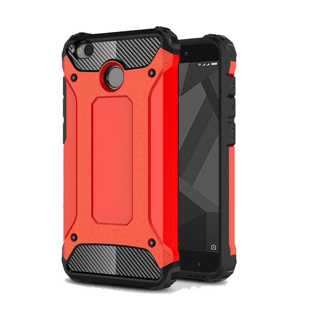 Armor Silicone Back Cover for Xiaomi Redmi 4X - RED