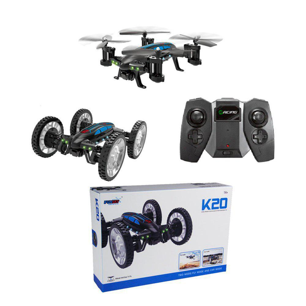 2017 New Multifunction Mini Drone RC Flying Cars Quadcopter K20 Air-land Remote Control Aircraft Flying Vehicles - BLACK