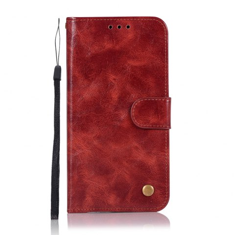 Extravagant Retro Fashion Flip Leather Case PU Wallet Cover Cases For Samsung Galaxy S8 Phone Bag with Stand - WINE RED