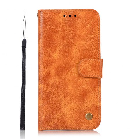Extravagant Retro Fashion Flip Leather Case PU Wallet Cover Cases For Samsung Galaxy S8 Phone Bag with Stand - CITRUS