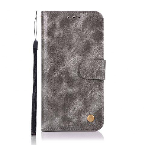 Extravagant Retro Fashion Flip Leather Case PU Wallet Cover Cases For Samsung Galaxy S8 Phone Bag with Stand - GRAY
