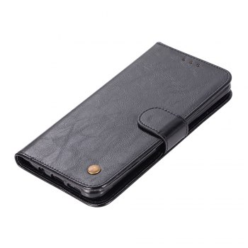 Extravagant Retro Fashion Flip Leather Case PU Wallet Cover Cases For Samsung Galaxy S8 Plus Phone Bag with Stand - BLACK