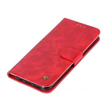 Extravagant Retro Fashion Flip Leather Case PU Wallet Cover Cases For Samsung Galaxy S8 Plus Phone Bag with Stand - RED