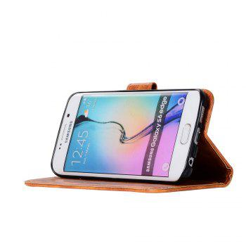 Extravagant Retro Fashion Flip Leather Case PU Wallet Cover Cases For Samsung Galaxy S6 Edge Phone Bag with Stand - CITRUS