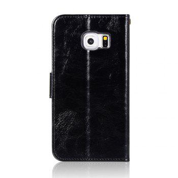Extravagant Retro Fashion Flip Leather Case PU Wallet Cover Cases For Samsung Galaxy S6 Edge Phone Bag with Stand - BLACK