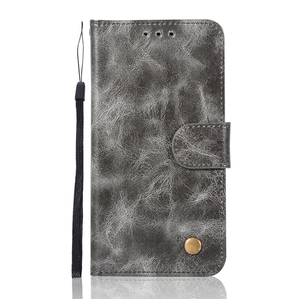 Extravagant Retro Fashion Flip Leather Case PU Wallet Cover Cases For Samsung Galaxy S6 Edge Phone Bag with Stand - GRAY