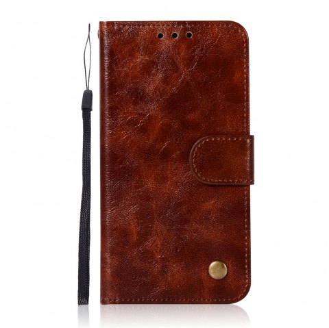 Extravagant Retro Fashion Flip Leather Case PU Wallet Cover Cases For Samsung Galaxy S6 Phone Bag with Stand - BROWN