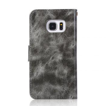 Extravagant Retro Fashion Flip Leather Case PU Wallet Cover Cases For Samsung Galaxy S6 Phone Bag with Stand - GRAY