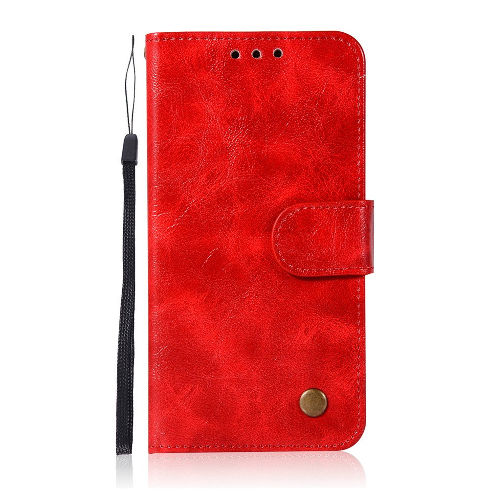 Extravagant Retro Fashion Flip Leather Case PU Wallet Cover Cases For Samsung Galaxy S6 Phone Bag with Stand - RED