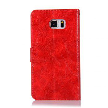 Extravagant Retro Fashion Flip Leather Case PU Wallet Cover Cases For Samsung Galaxy Note 5 Phone Bag with Stand - RED