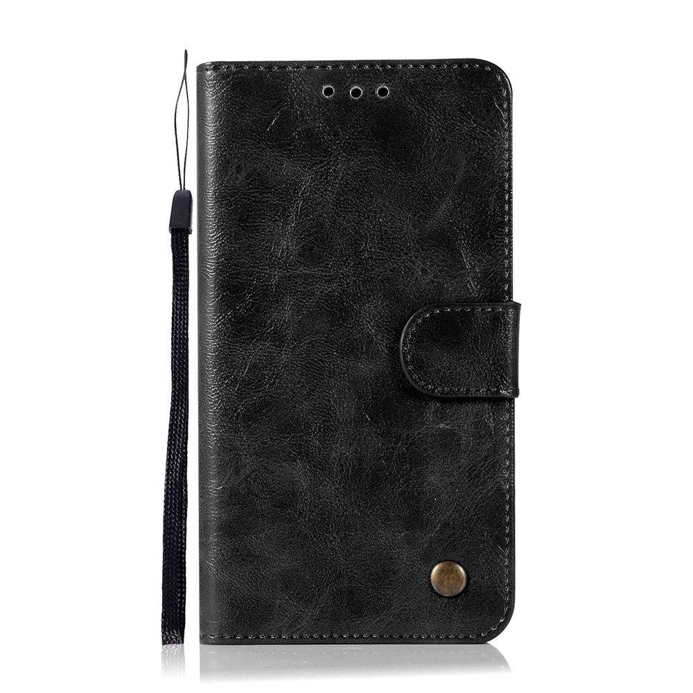 Extravagant Retro Fashion Flip Leather Case PU Wallet Cover Cases For Samsung Galaxy Note 5 Phone Bag with Stand - BLACK