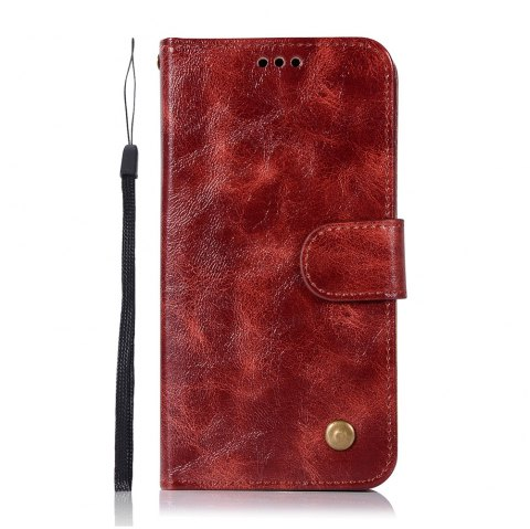 Extravagant Retro Flip Leather Case PU Wallet Cover Cases For Samsung Galaxy Xcover 4 / G390F Phone Bag with Stand - WINE RED