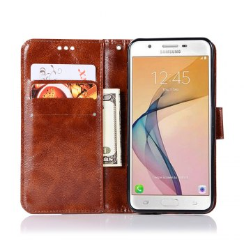 Extravagant Retro Flip Leather Case PU Wallet Cover Cases For Samsung Galaxy Xcover 4 / G390F Phone Bag with Stand - BROWN