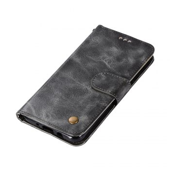 Extravagant Retro Flip Leather Case PU Wallet Cover Cases For Samsung Galaxy Xcover 4 / G390F Phone Bag with Stand - GRAY