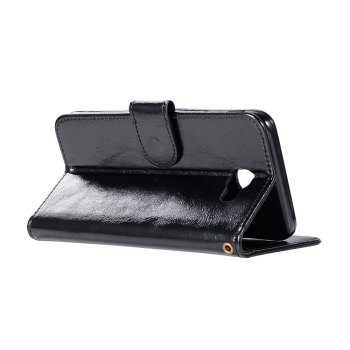 Extravagant Retro Flip Leather Case PU Wallet Cover Cases For Samsung Galaxy Xcover 4 / G390F Phone Bag with Stand - BLACK