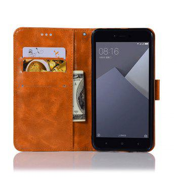 Extravagant Retro Fashion Flip Leather Case PU Wallet Cover Cases For Xiaomi Redmi Note 5A Phone Bag with Stand - CITRUS