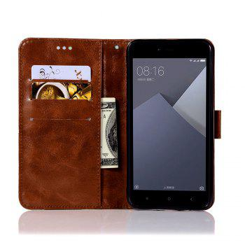 Extravagant Retro Fashion Flip Leather Case PU Wallet Cover Cases For Xiaomi Redmi Note 5A Phone Bag with Stand - BROWN