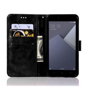 Extravagant Retro Fashion Flip Leather Case PU Wallet Cover Cases For Xiaomi Redmi Note 5A Phone Bag with Stand - BLACK