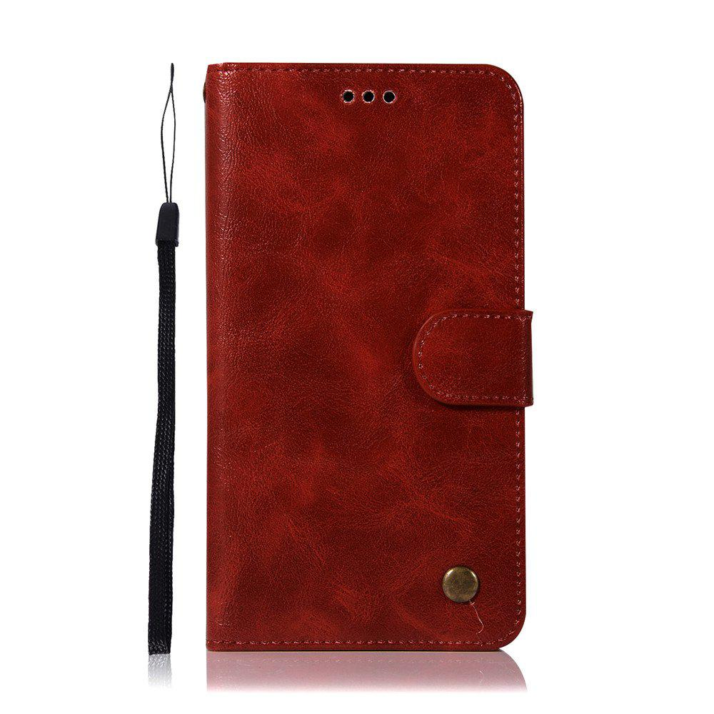 Extravagant Retro Fashion Flip Leather Case PU Wallet Cover Cases For Xiaomi Redmi Note 5A Phone Bag with Stand - WINE RED