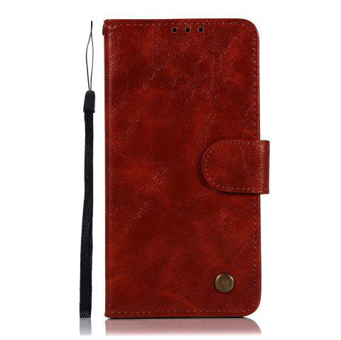 Extravagant Retro Fashion Flip Leather Case PU Wallet Cover Cases For LG X Power 5.3 inch Phone Bag with Stand - WINE RED