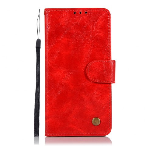 Extravagant Vintage Fashion Flip Leather Case PU Wallet Cover Cases For LG X Power 5.3 inch Phone Bag with Stand - RED