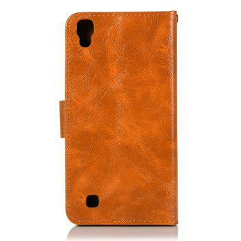Extravagant Retro Fashion Flip Leather Case PU Wallet Cover Cases For LG X Power 5.3 inch Phone Bag with Stand - CITRUS