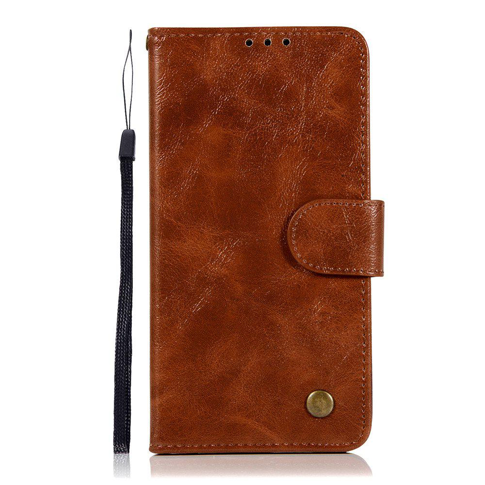 Extravagant Retro Fashion Flip Leather Case PU Wallet Cover Cases For LG X Power 5.3 inch Phone Bag with Stand - BROWN