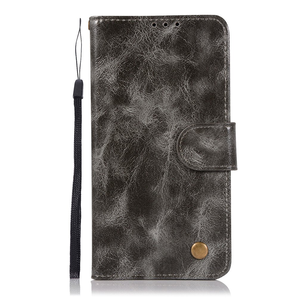 Extravagant Retro Fashion Flip Leather Case PU Wallet Cover Cases For LG X Power 5.3 inch Phone Bag with Stand - GRAY