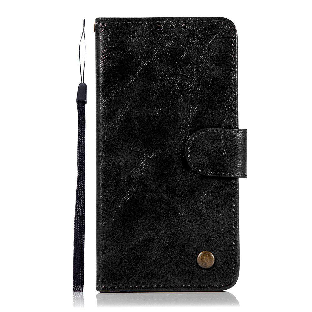 Extravagant Retro Fashion Flip Leather Case PU Wallet Cover Cases For LG X Power 5.3 inch Phone Bag with Stand - BLACK
