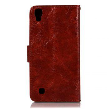 Extravagant Retro Fashion Flip Leather Case PU Wallet Cover Cases For LG X Style K200DS 5.0 inch Phone Bag with Stand - WINE RED