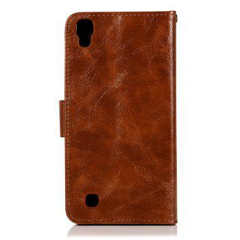 Extravagant Retro Fashion Flip Leather Case PU Wallet Cover Cases For LG X Style K200DS 5.0 inch Phone Bag with Stand - BROWN