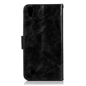 Extravagant Retro Fashion Flip Leather Case PU Wallet Cover Cases For LG X Style K200DS 5.0 inch Phone Bag with Stand - BLACK