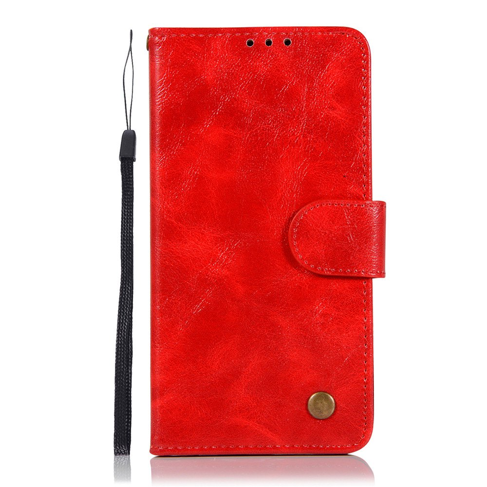 Extravagant Retro Fashion Flip Leather Case PU Wallet Cover Cases For LG X Style K200DS 5.0 inch Phone Bag with Stand - RED
